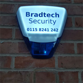 Bradtech bell box on wall