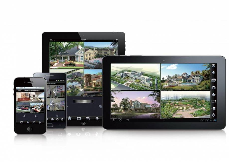 CCTV remote viewing on tablet and smartphone