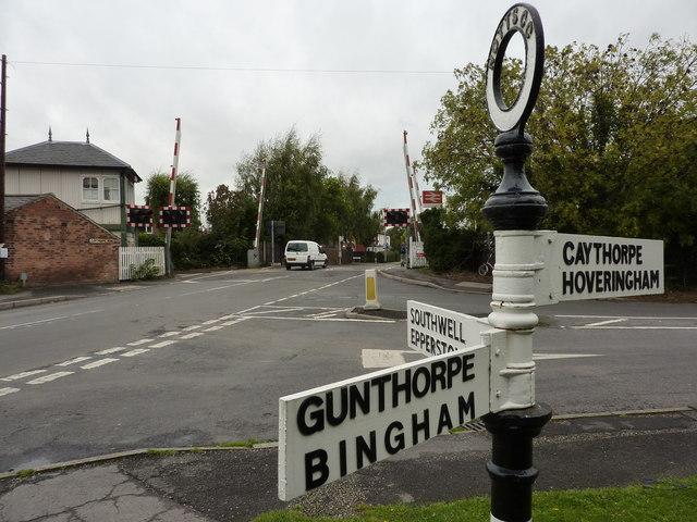 Bingham road sign